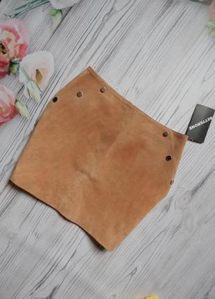 Бомбезная юбка с натуральной кожи. размер l.