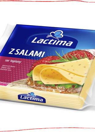 Сыр тостовый с салями 130 г Lactima