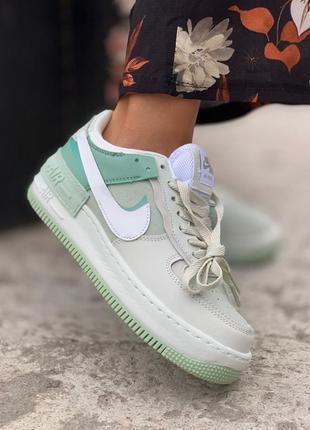 Кросівки nike air force 1 shadow green mint кроссовки