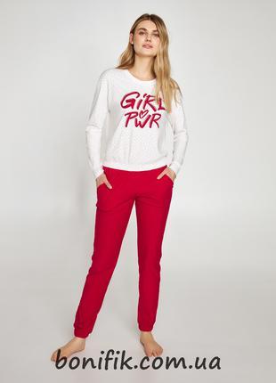 """Комплект женской пижамы с надписью """"Girl Power"""" арт. LNP 412/001"""
