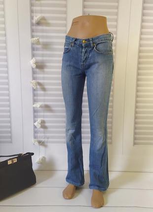 Джинсы брюки штаны скинни скини голубые, s