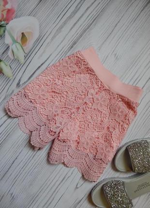 Превосходные гипюровые женские шорты. размер m-l.