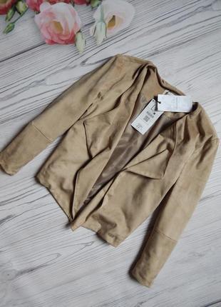 Стильный, модный пиджак от bershka под мягкую замшу. размер l