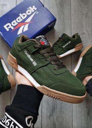 Мужские кроссовки reebok green кросівки