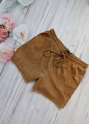 Чудесные, стильные женские шорты под замш от h&m. размер l-xl