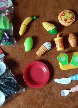 Овощи на липучках кухня посудка
