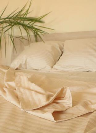 Комплект постельного белья из ткани страйп сатин
