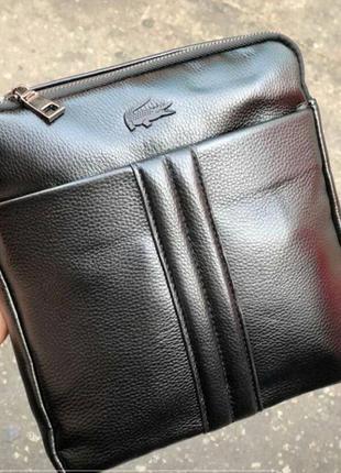 Мужская брендовая сумка lacoste лакост, сумка через плечо