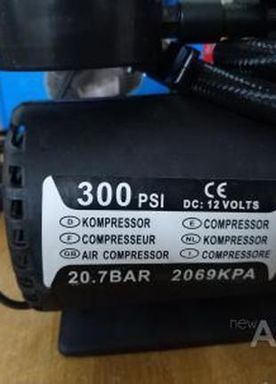 Насос компрессор авто Air Compressor 300pci 12V + набор насадок