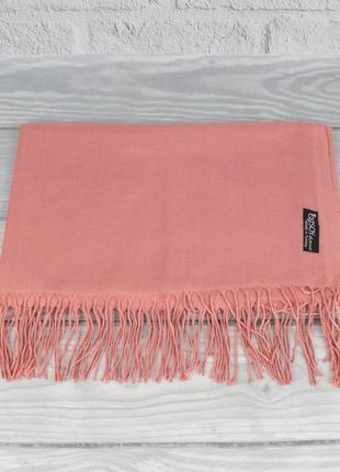 Кашемировый шарф, палантин терракотовый