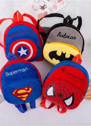 Детский плюшевый рюкзак супергерой Капитан Америка