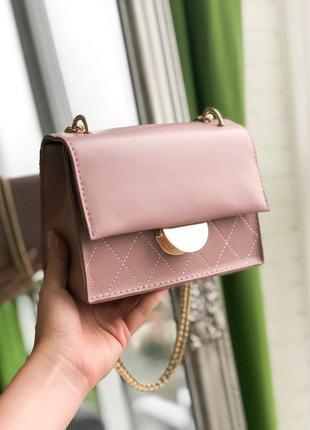 Розовый клатч, розовая сумочка, сумка женская 2 цвета
