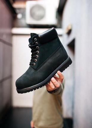 "Timberland ""black"" шикарные мужские осенние ботинки без меха (..."