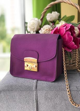 Фиолетовый клатч, женская сумка на плечо фиолетовая, женская с...