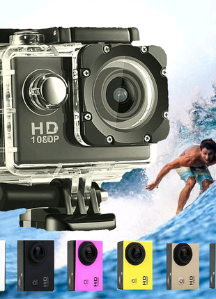 Экшн камера A7 FullHD + аквабокс + Регистратор.