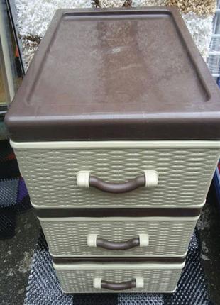 Пластиковый комод, шкафчик  3 ящика