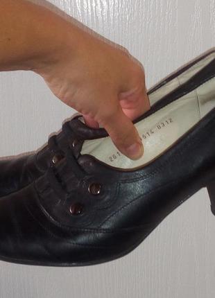 Кожаные туфли, размер 39