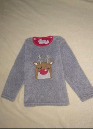 Махровый свитер кофта