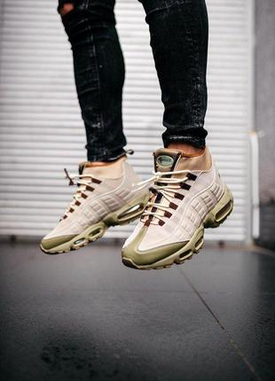 Nike air max 95 sneakerboot beige кроссовки термо найк аир мак...