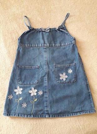 Сарафан, платье джинсовое