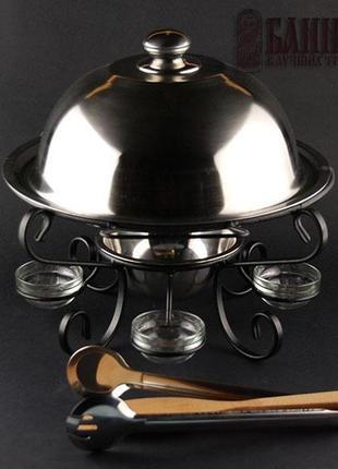 Блюдо для шашлыка с подогревом (комплект)