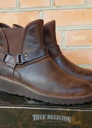 Ugg glen угги ботинки кожаные зимние оригинал (39)