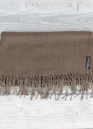 Кашемировый шарф, палантин капучино