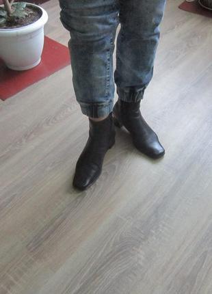 Ботинки демисезонные из нат. кожи