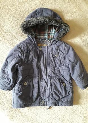 Классная куртка, парка , подклад махра.