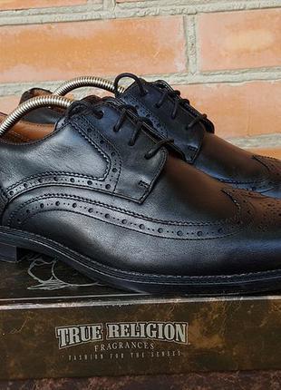 Clarks туфли броги кожаные оригинал (43)