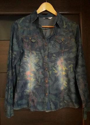 Джинсовая рубашка, рубашка из тонкого джинса