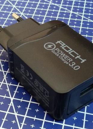 Блок питания ROCK CY-Q023 QC3 USB живлення ЮСБ зарядное устрой...