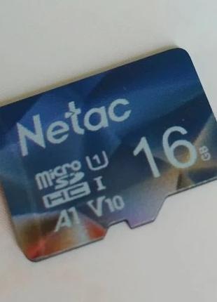 Карта памяти microSDHC 16Gb Netac HC-I 16 Гб micro SD HC Trans...