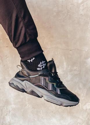 Мужские кроссовки 🔺adidas ozweego black&white🔺