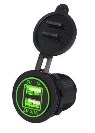 Автомобильная розетка 2хUSB (12-24 В)/ Адаптер питания USB