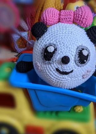 Мягкая игрушка Пандочка. Амигуруми. Малышарики (Ручная работа)