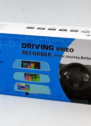 Зеркало видеорегистратор CT600 ANDROID 2 камеры GPS
