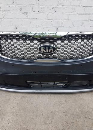 Комплектный передний бампер на KIA Sorento 3 2015-2020 рестайлинг