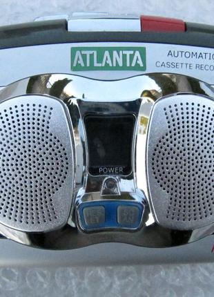 Кассетный плеер Atlanta AT-73 ,запись, цифровой FM тюнер,новый