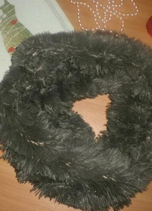 Шикарний меховий снуд (шарф)
