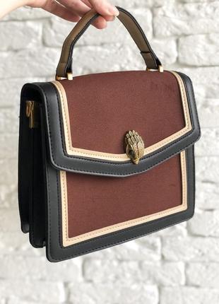 Бодовая черная стильная сумка, сумочка на плечо женская