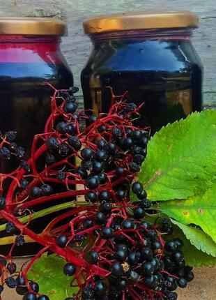 Сок из ягод бузины черной