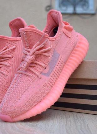 Кроссовки женские adidas yeezy boost 350 коралловые🌶 sale скидка