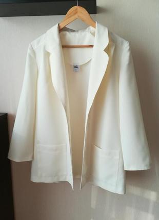 Свободный молочный пиджак, жакет, oversize