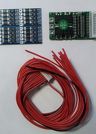 BMS Защитная плата для литий-ионных батарей DYKB 6S-13S 25A