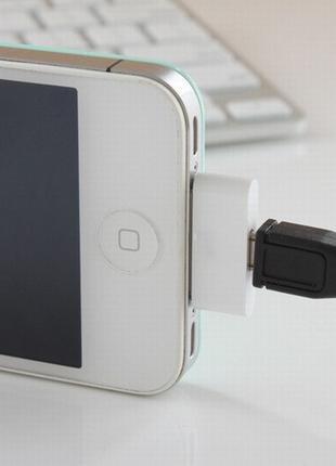 Перехідник micro USB в iPhone / iPad/ iPod 2-5 (адаптер Apple)
