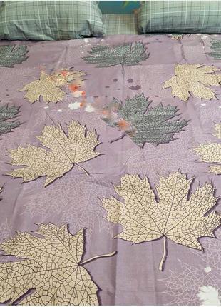 Постільна білизна листя осінні в наявності всі розміри, бязь голд