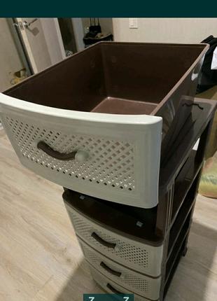 Органайзер вместительный большой на 4 ящика комод тумба новый