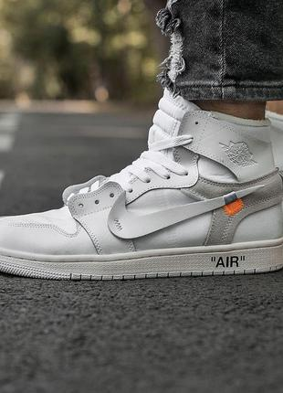 Кроссовки nike air jordan retro 1 x off white