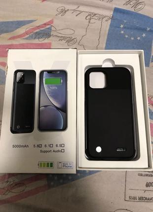 Чехол зарядка чехол Power bank на айфон Iphone 11 pro max